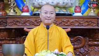TT. Nhật Từ giảng cho 100 em học sinh lớp 12 sắp thi tốt nghiệp tại chùa Giác Ngộ,