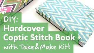 How To Make A Book : Hardcover Coptic Stitch : Take&Make Kit