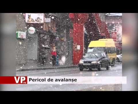 Pericol de avalanșe