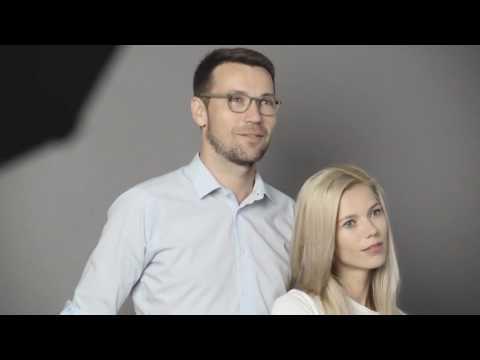 Veronika Hejlíková a Lukáš Hejlík při focení