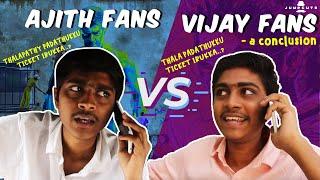 Video Ajith fans vs vijay fans - a conclusion MP3, 3GP, MP4, WEBM, AVI, FLV November 2017