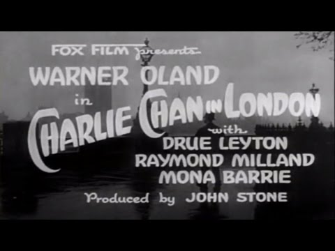 03   Charlie Chan In London 1934 Very Good