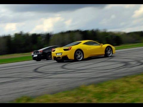scuderia - https://www.facebook.com/GTBOARD Ferrari 430 Scuderia vs Ferrari 458 Italia.