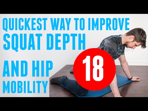 How to Improve squat depth with one simple move video groin stretch glute activation