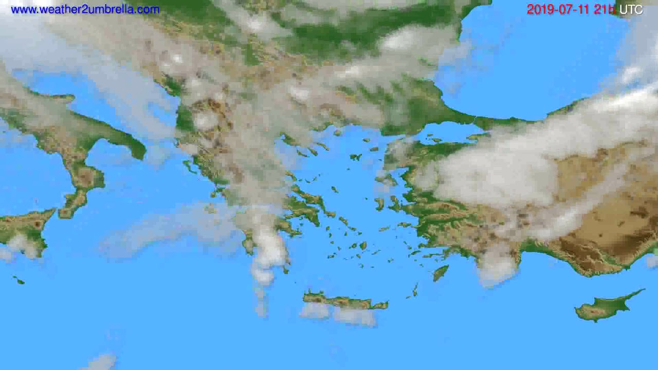 Cloud forecast Greece // modelrun: 00h UTC 2019-07-10