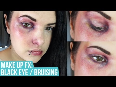sfx - Welcome to Episode 1 of my Makeup SFX series. Here I show you how to create a quick and easy black eye / bruising effect. What you will need: - Ben Nye Maste...