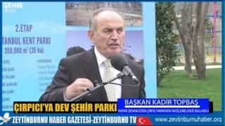 Başkan Topbaş Çırpıcı Parkında incelemelerde bulundu