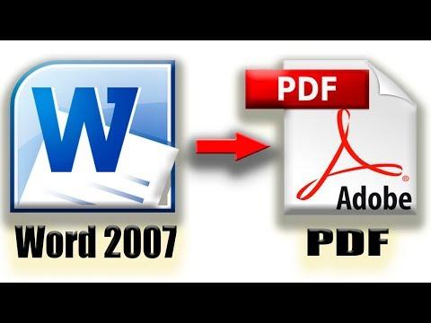Como convertir de Word 2007 a PDF (Actualizado Dic. 2017!)