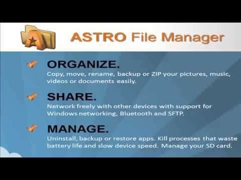 Video of ASTRO File Mgr Pro (key)