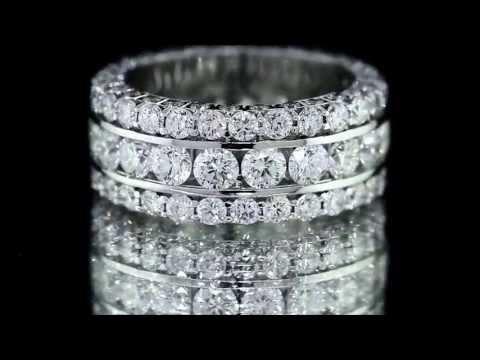 MEN'S DIAMOND RING 11CT NTURAL DIAMOND  SET IN 14KT WHITE GOLD SIZE 9