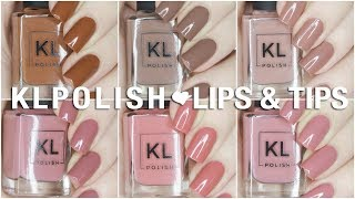 NEW Lips + Tips Limited Edition KL Polish Collection | Swatch + Review
