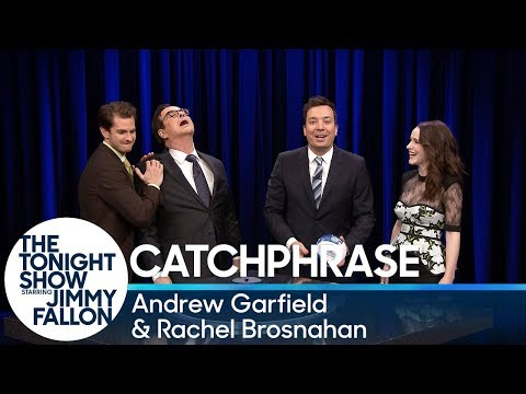 Catchphrase with Andrew Garfield and Rachel Brosnahan
