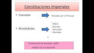Umh1191 2013-14 Lec004 Fuentes Del Derecho Romano Preclásico Y Postclásico