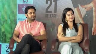 Rashmika Mandanna Funny interview – Bheeshma team interview – nithin