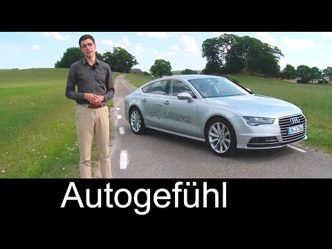 2015 Audi A7 Sportback Facelift test drive review comparing with Mercedes CLS Facelift – Autogefühl
