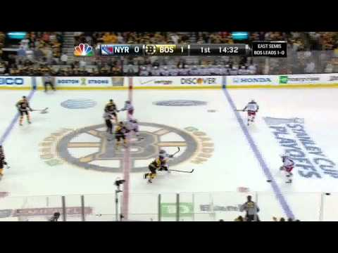 Torey Krug snapshot goal 1-0 May 19 2013 NY Rangers vs Boston Bruins NHL Hockey_Best videos: Ice hockey