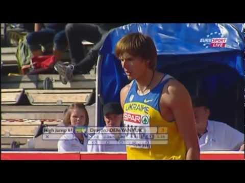 Дмитро Дем'янюк 2.35м. Переможний стрибок на Командному Чемпіонаті Європи 2011 року. (Стокгольм,Швеція)