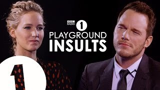 Jennifer Lawrence & Chris Pratt Insult Each Other | CONTAINS STRONG LANGUAGE!