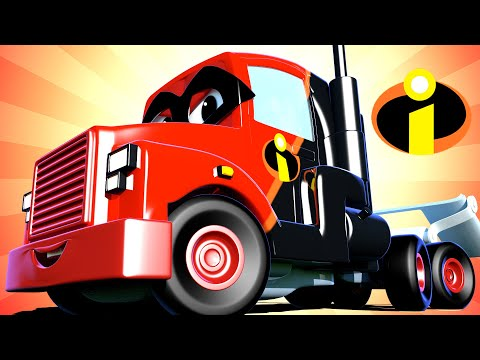 Carl Si Truk Super 🚚 ⍟  Spesial The Incredibles - Truk Incredible  - truk kartun untuk anak-anak
