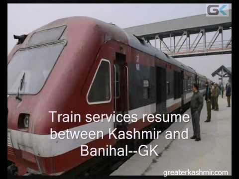 Train services resume between Kashmir and Banihal