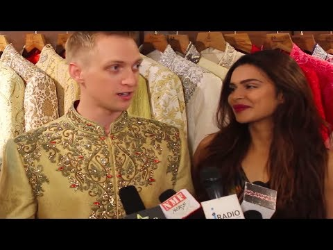 Aashka Goradia & Brent Goble do wedding shopping!