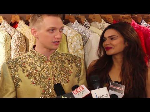 Aashka Goradia & Brent Goble do wedding shopping!