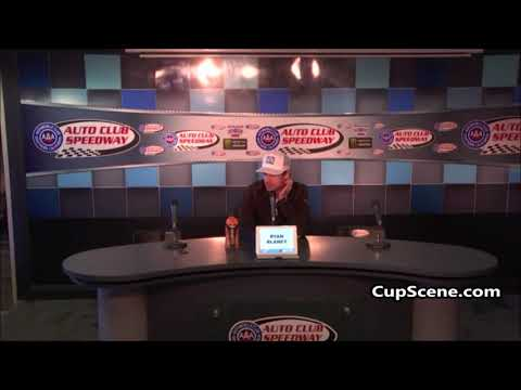 NASCAR at Auto Club Speedway March 2019: Ryan Blaney pre-race