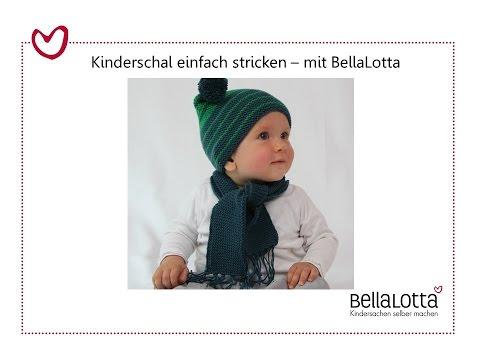 Kinderschal einfach stricken – mit BellaLotta
