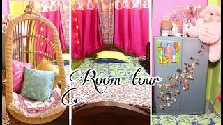 Room tour: diy room decor ideas | Indian + Bohemian colorful room