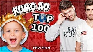 Qual o Próximo YouTuber a Entrar no Top 100? The Chainsmokers, Vlad and Nikita, Irmãos Neto