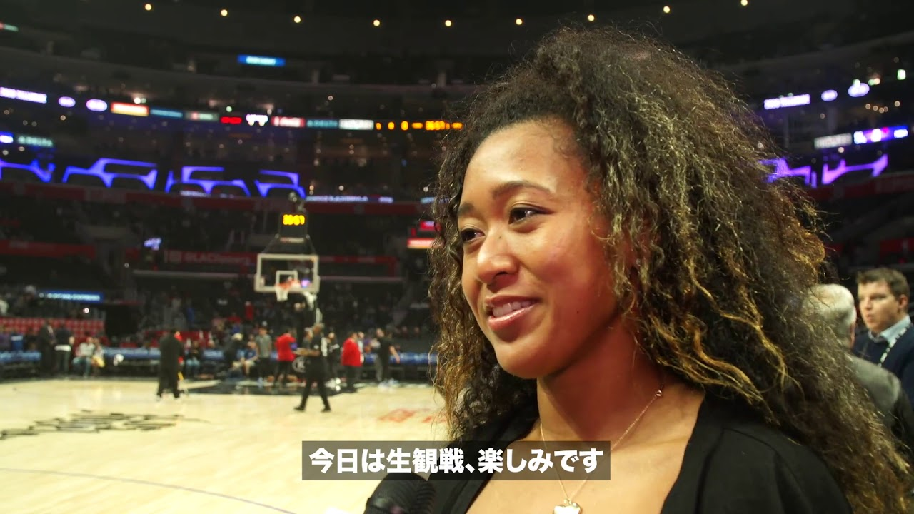 Osaka meets Washington Wizards rookie Rui Hachimura