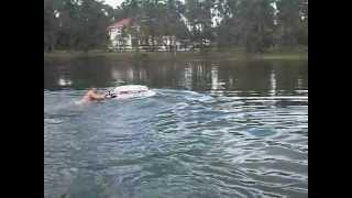 6. Kawasaki jetski in a small lake. extremely 2