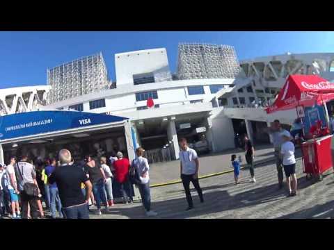Вход на стадион Фишт. Матч Кубка Конфедераций 2017 Германия-Камерун