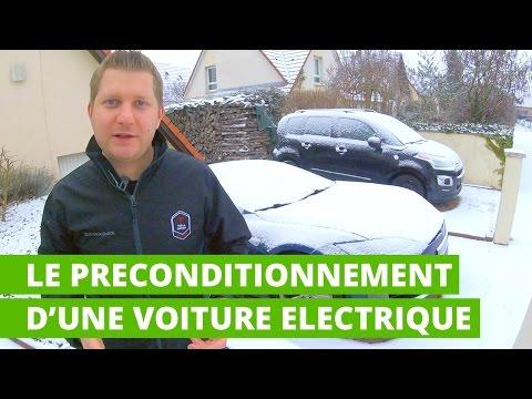 Le préconditionnement d'une voiture électrique en hiver
