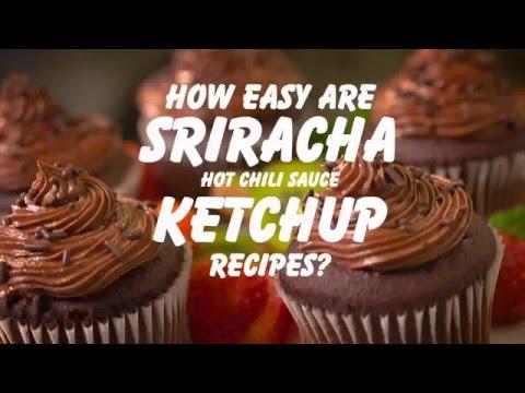 Sriracha Ketchup Kickin' Cupcakes