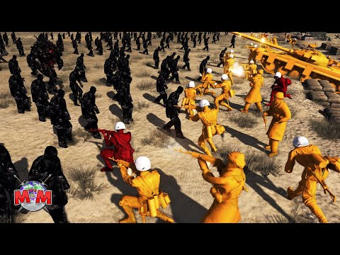 OBSIDIAN ZOMBIE COUNTER-ATTACK ! Army Men Of War   Battle Simulator