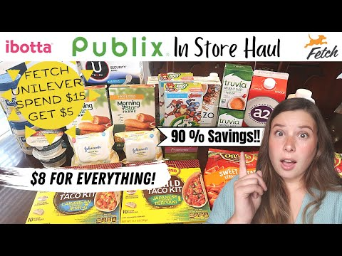 Publix In Store Haul | 90% Savings! | Unilever Deals and Clearance Finds!
