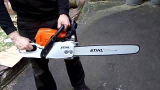 10. The chainsaw STIHL MS 391 FIRST START