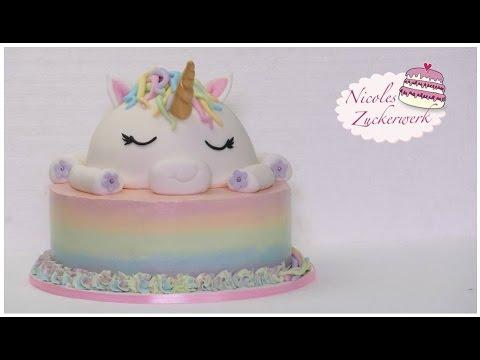 Einhorn-Motivtorte I Unicorn Cake I How to make I Torte von Nicoles Zuckerwerk