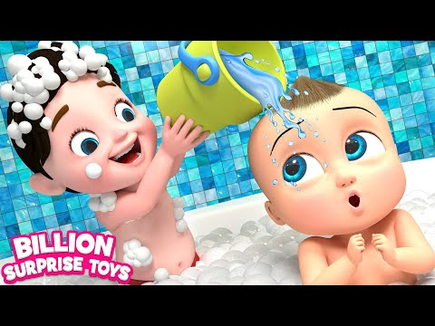 Video TWINS BABIES Bathing Song - 3D Animation Songs for Children download in MP3, 3GP, MP4, WEBM, AVI, FLV January 2017