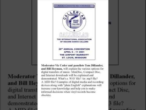 2001 CALLERLAB Conv Digital Music