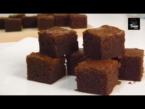 BROWNIE de CHOCOLATE  en 5 minutos, rápido y fácil