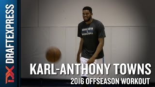 Karl-Anthony Towns Workout Video from Los Angeles