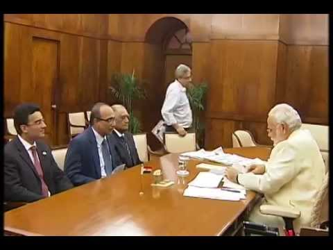meets - A five-member delegation led by the Vice-Chairman, Aga Khan Foundation, Shri Gulam Rahimtoola calls on the Prime Minister, Shri Narendra Modi, in New Delhi on July 24, 2014.