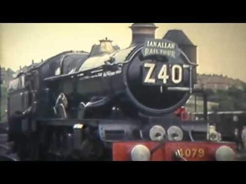Archive film of steam trains at Worcester in the 1960's