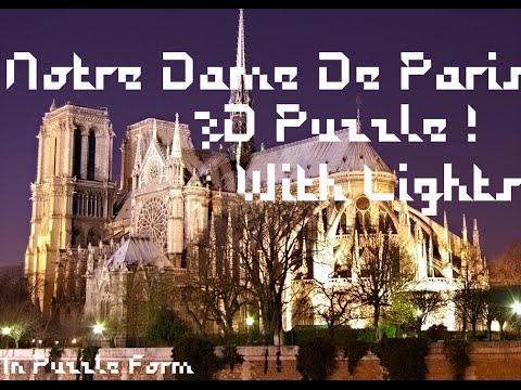 Notre Dame De Paris 3D Light Up Puzzle!