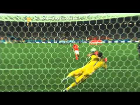 La definición por penales. Argentina 0 (4) - Holanda 0 (2). Mundial Brasil 2014. FPT