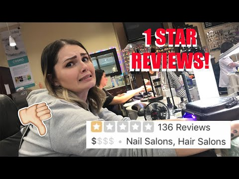 GOING TO THE WORST REVIEWED NAIL SALON IN MY CITY  & IM A NAIL TECH (part 2) *1 STAR*