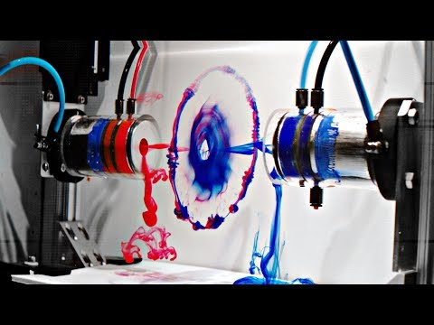 Two Vortex Rings Colliding In Slow Motion