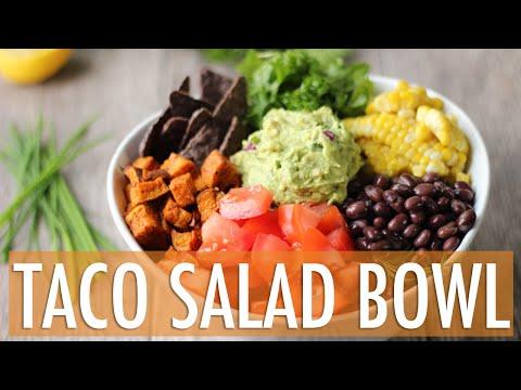 HEALTHY TACO SALAD BOWL | Vegan & Gluten Free
